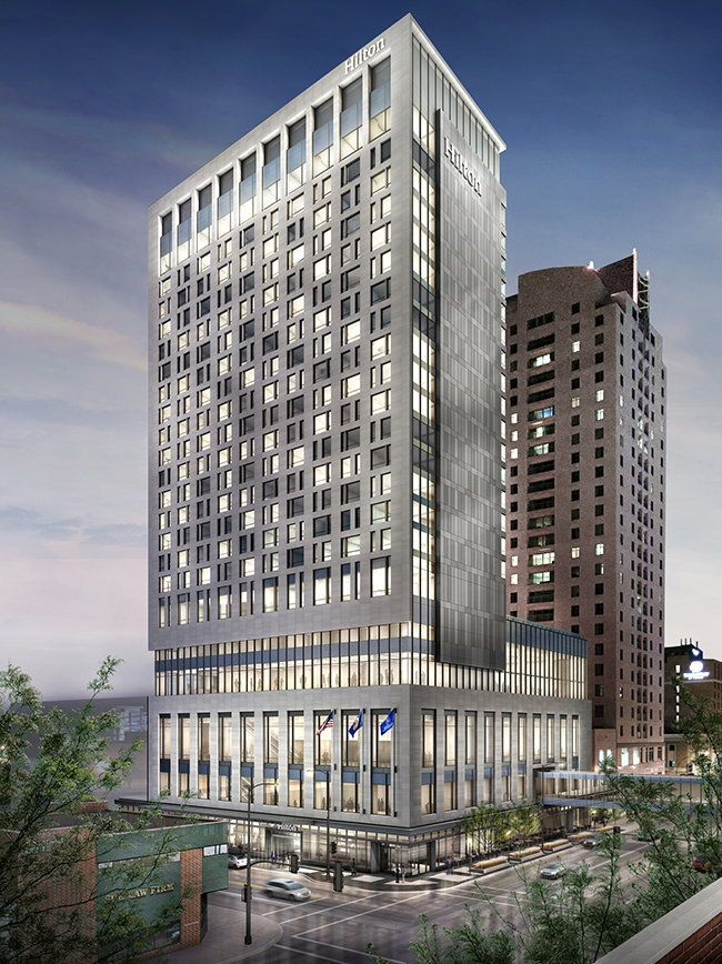Rendering of the Hilton Rochester Mayo Clinic Area Hotel