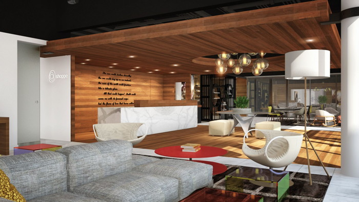 Rendering of the The Hotel Zags Portland - Lobby