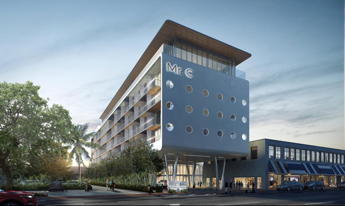 Rendering of the Mr. C Coconut Grove Hotel - Exterior