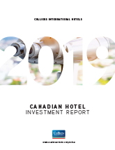 Colliers International 2019 Canadian Hotel Investment Report cover
