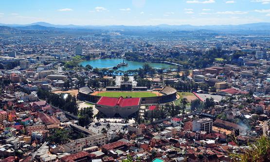 Aerial view of Antananarivo