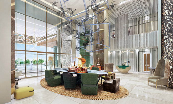 Rendering of the Andaz Dubai The Palm lobby