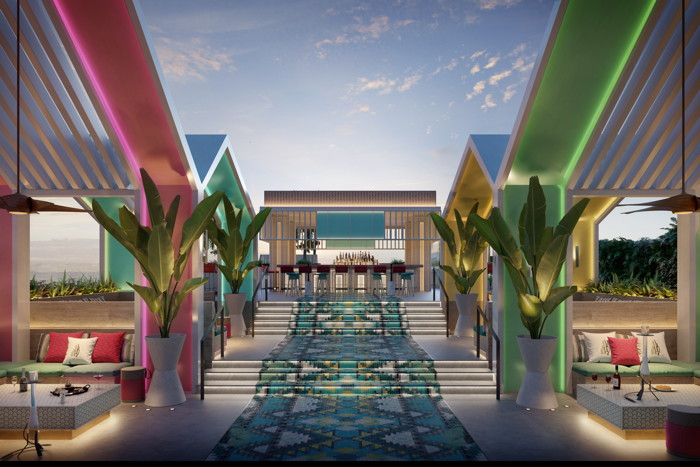 Rendering of the Jaz in the City Dubai - Poolbar