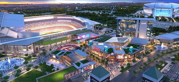Texas Live! Rendering at Completion  Source: texas-live.com
