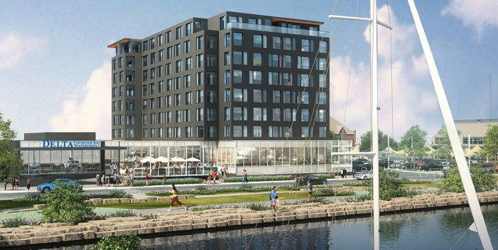 Rendering of the Delta Hotels by Marriott Thunder Bay