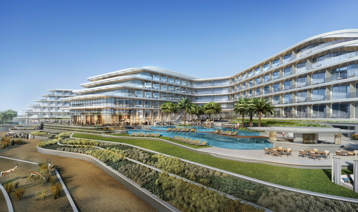 Rendering of the JA Lake View Hotel at JA The Resort Dubai
