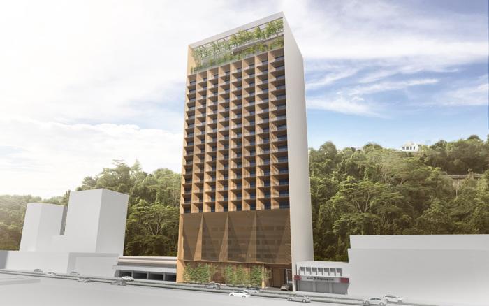 Rendering of the Hyatt Centric Kota Kinabalu