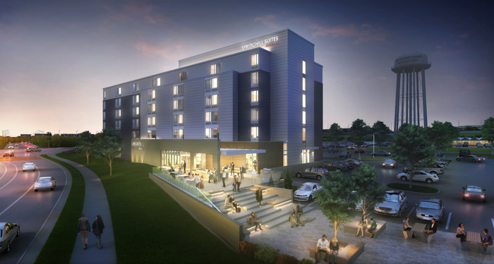 Rendering of the SpringHill Suites by Marriott in Wauwatosa, Wisconsin