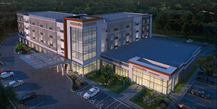 Rendering of the Cambria Hotel Nashville Airport Breaks
