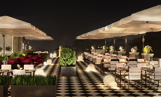 Rendering of the Radisson Collection Hotel Santa Sofia - restaurant