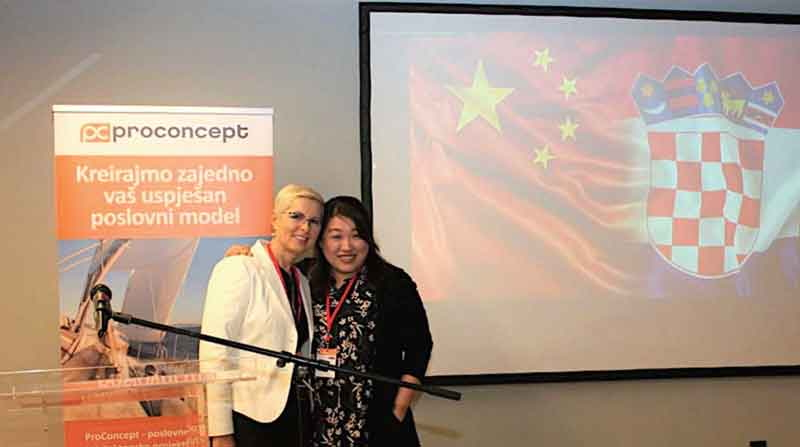 Joanne Chan of IPPWORLD with Andreja Gazdek of PROCONCEPT at the Conference