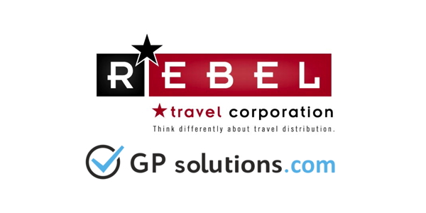 REBEL Travel Corporation and GP Solutions logos