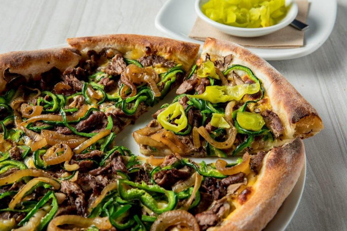 CPK Philly Cheesesteak Pizza - exclusive to PHL