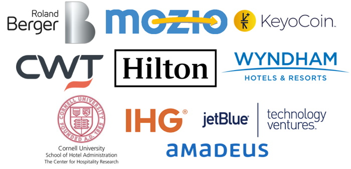 Various travel company logos