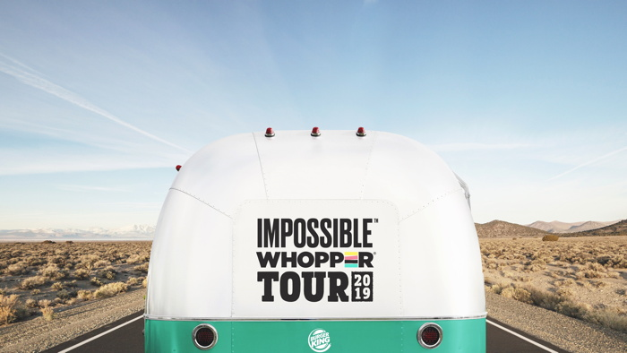 The Impossible WHOPPER Tour bus