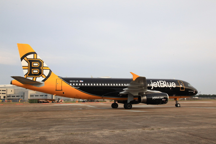 JetBlue Unveils New Custom Livery Dedicated to the Boston Bruins