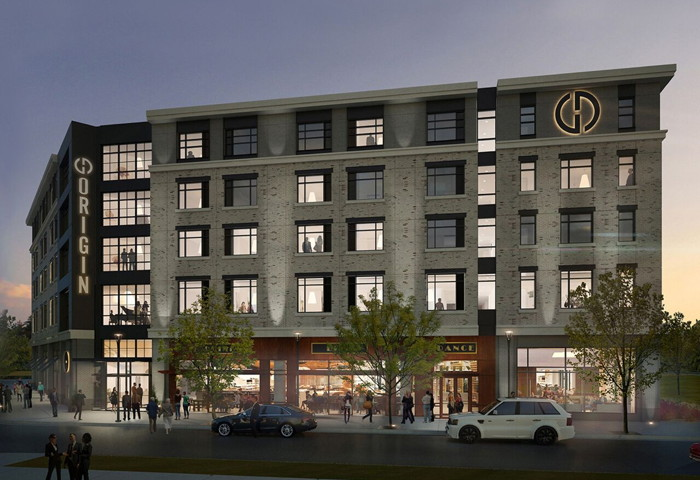 Rendering of the Origin Lexington Hotel