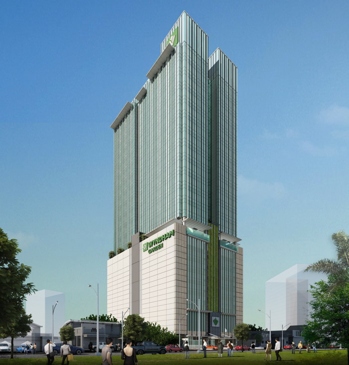 Rendering of the Wyndham Garden Quezon City