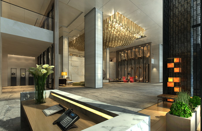 Rendering of the Radisson Hangzhou Qianjiang - Lobby
