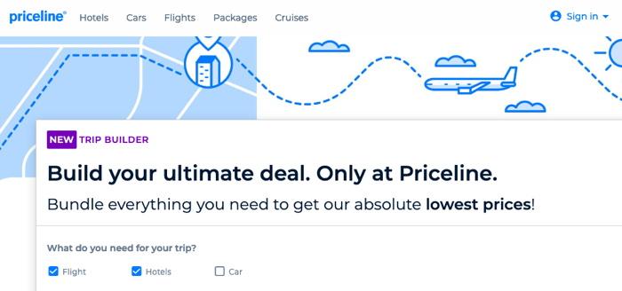 Screenshot - Priceline Trip Builder