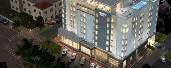 Rendering of a SpringHill Suites by Marriott prototype