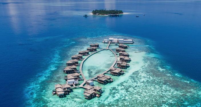 Raffles Maldives Meradhoo - Aerial vew