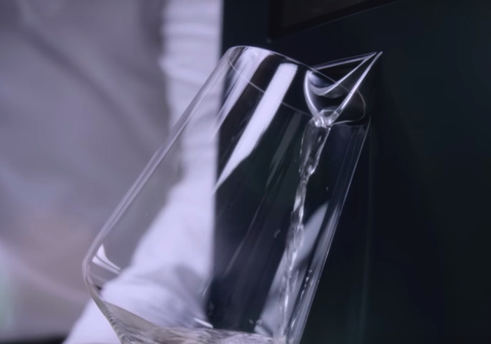 A wine glass