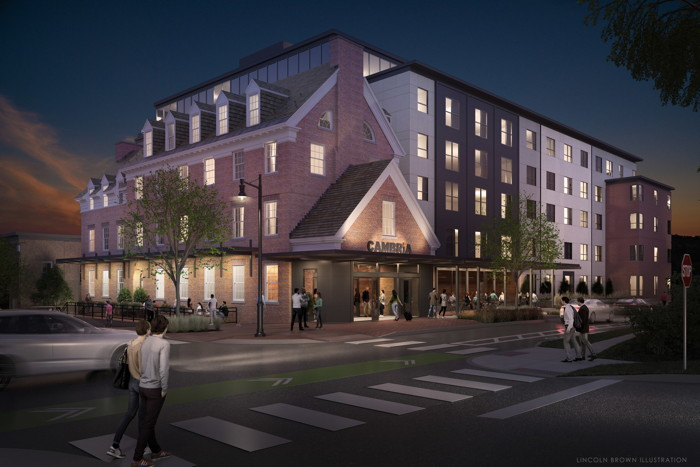 Rendering of the Cambria hotel in Burlington - Credit: Smith Buckley Architects / Lincoln Brown Rendering