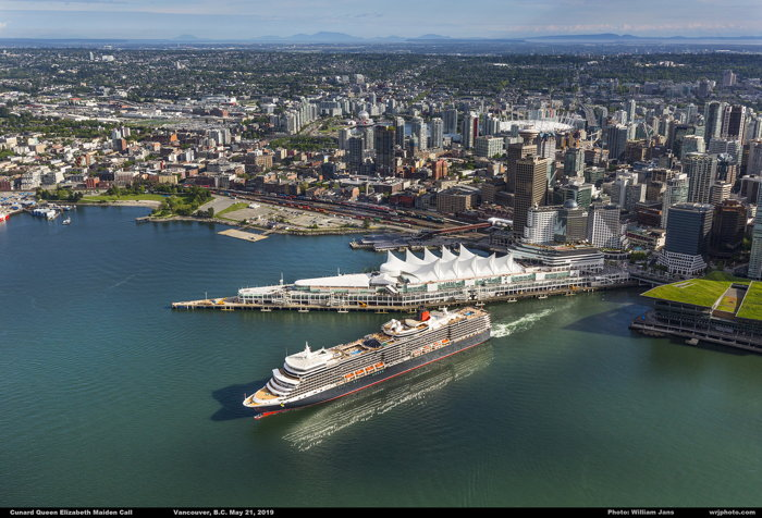Queen Elizabeth Departing Vancouver