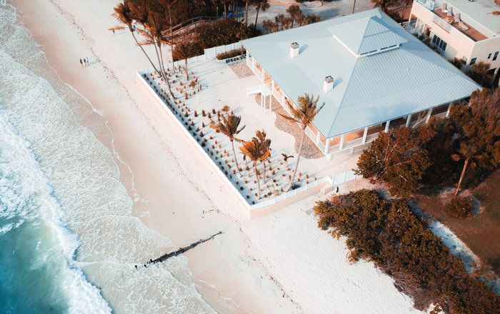 Aerial view of a beach houese - Photo by Alex Perez on Unsplash