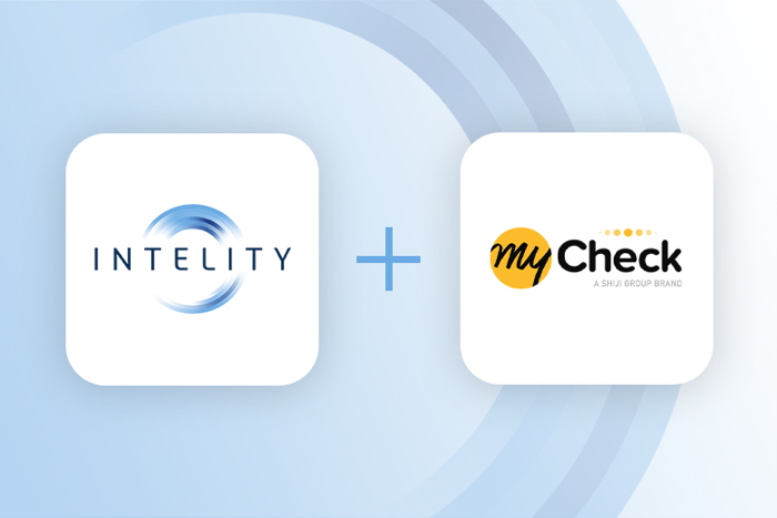 INTELITY and MyCheck logos