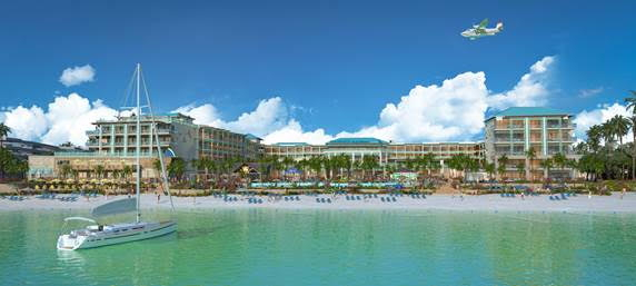 Rendering of a Margaritaville Island Reserve by Karisma