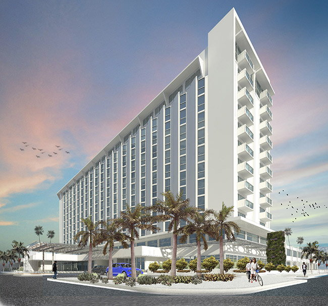 Rendering of the ROK Hotel, Kingston