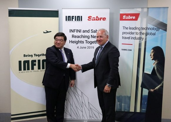 Image from Sabre & INFINI signing ceremony
