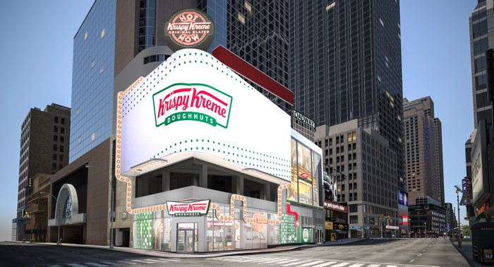 Rendering of the Krispy Kreme Times Square