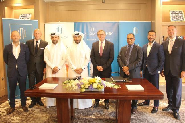 Image from Hotel Indigo Qatar signing ceremony