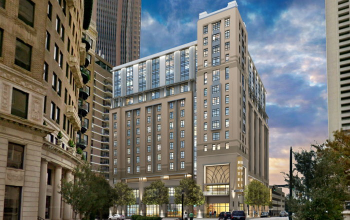 Rendering of the Courtyard by Marriott & Element by Westin in Midtown Atlant