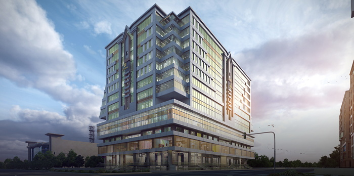 Rendering of the Radisson Hotel Lahore City Mall