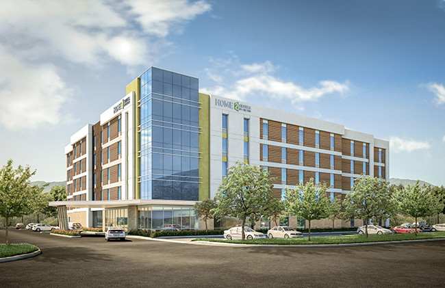 Rendering of the Home2 Suites by Hilton San Francisco Airport North