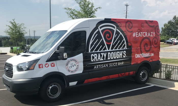 Crazy Dough's Pizza van