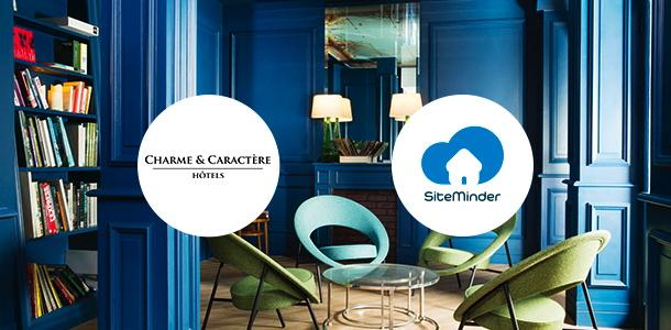 SiteMinder andCharme & Caractère Hôtels logos