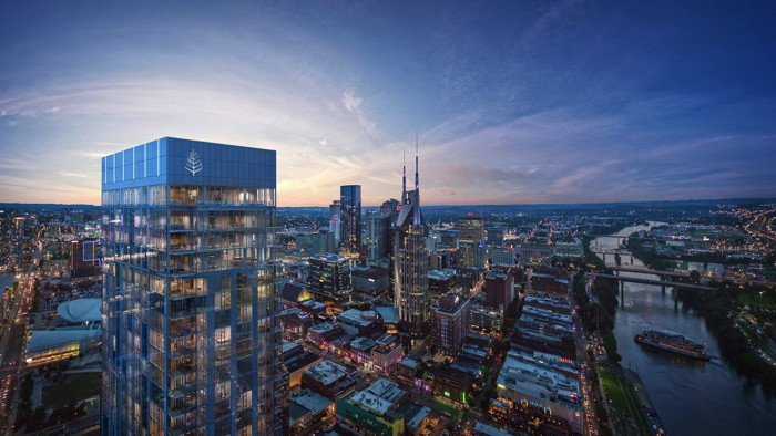 Rendering of the Four Seasons Hotel and Private Residences Nashville