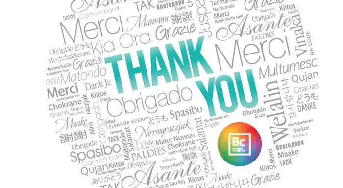 Collage of thank you in different languages - Image from Deloitte study