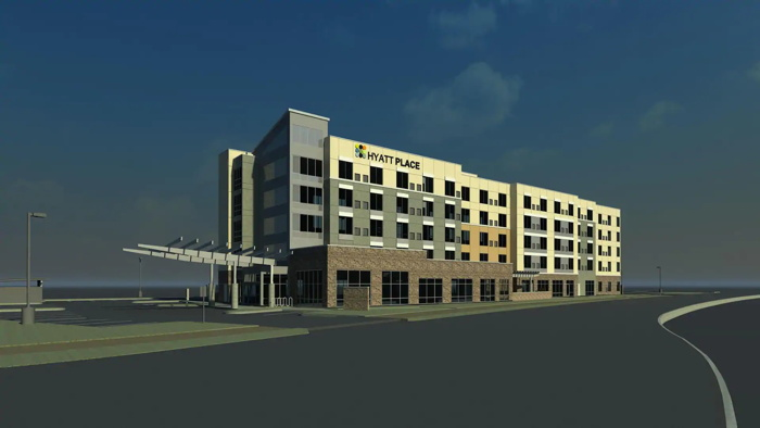 Rendering of the Hyatt Place Fresno