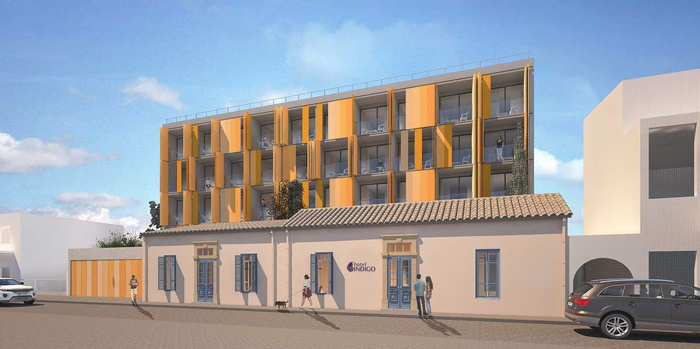 Rendering of the Hotel Indigo Cyprus - Larnaca