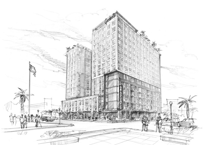 Rendering of the Graduate Tucson Hotel