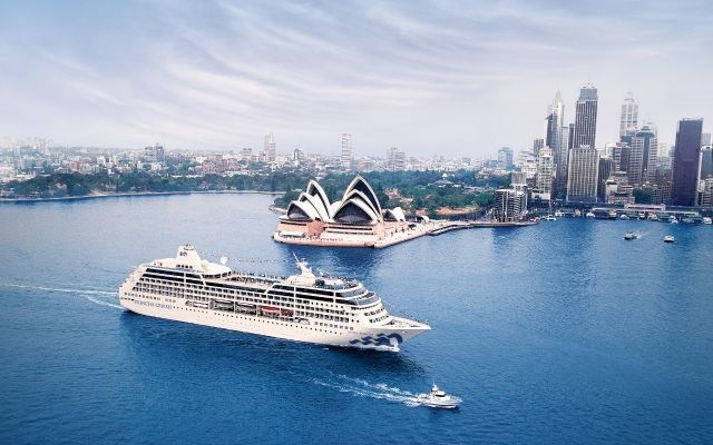 Princess Cruises ship in Sydney harbor