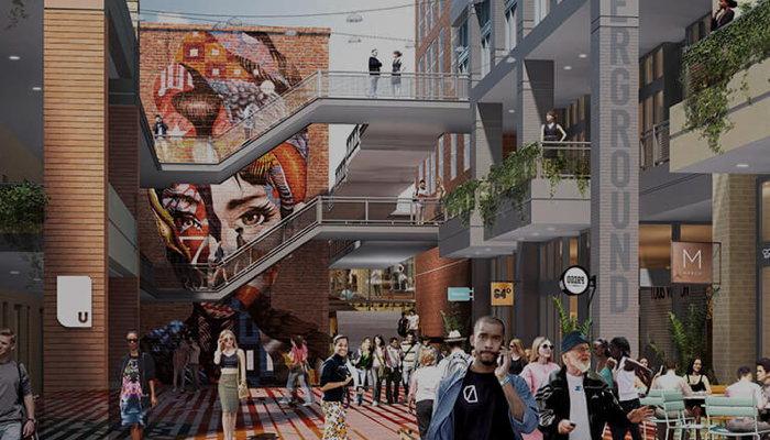 Rendering of the Underground Atlanta development - Source - Underground Atlanta
