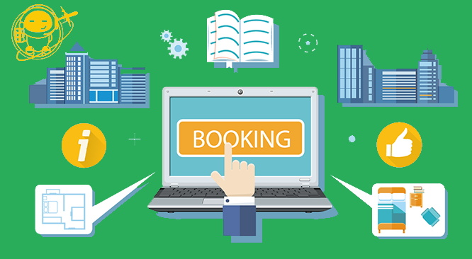 Illustration - Hotel Booking Engine concept