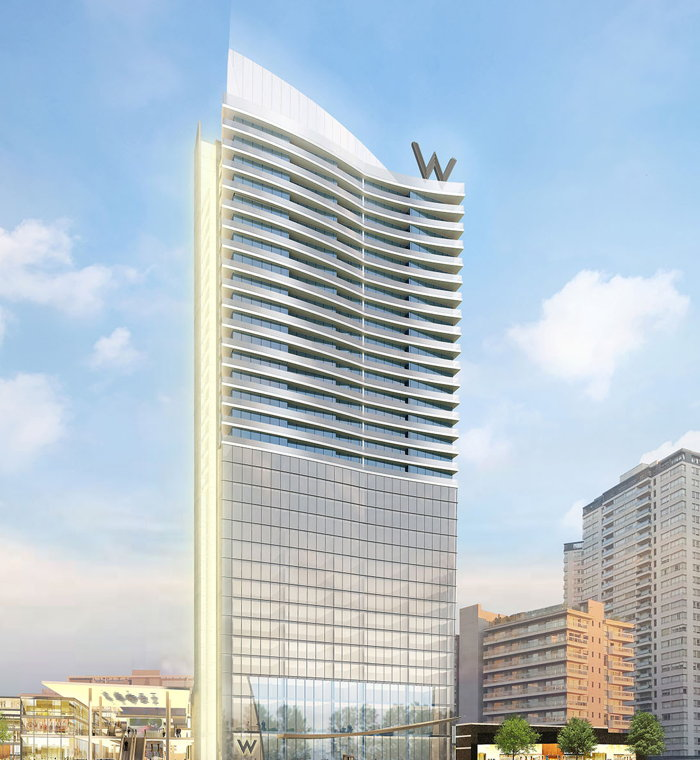 Artist's rendering of W Buenos Aires, courtesy of GNV Group